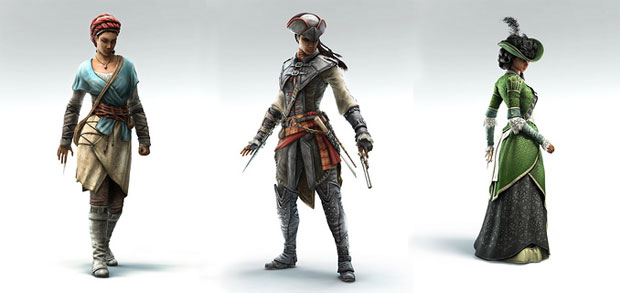 Assassin's Creed Libération - les costumes