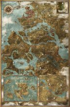 Witcher 3 - carte des emplacements des site d'énergie - Place of power location map {JPEG}
