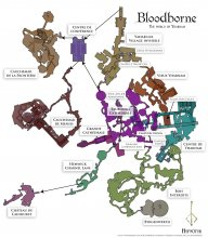 Bloodborne - carte du monde - world map {JPEG}