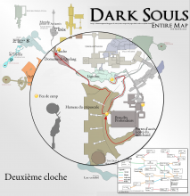 Dark Souls - Carte pour sonner la deuxième cloche - Map to second bell {PNG}