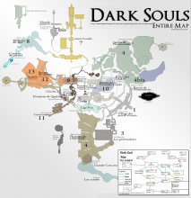 Dark Souls - carte du monde - all world map {PNG}