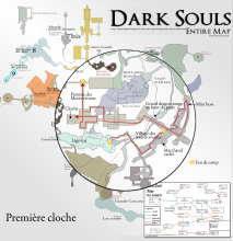 Dark Souls - Carte pour sonner la première cloche - Map to first bell {PNG}